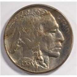 1915-D BUFFALO NICKEL, AU+