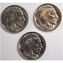 1935 & 1937-P&D BUFFALO NICKELS, CH TO GEM BU