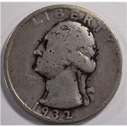 1932-S WASHINGTON QUARTER, VF/XF