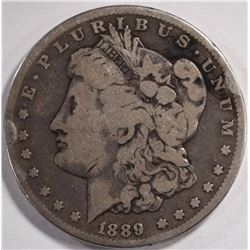 1889-CC MORGAN DOLLAR, VG/FINE a few rim bumps