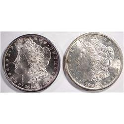 1880-S & 1882-S MORGAN DOLLARS, CHOICE BU