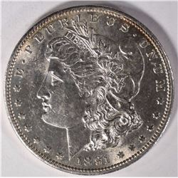 1891-S MORGAN DOLLAR, CHOICE BU