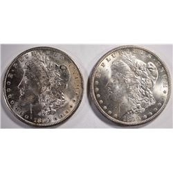 2-1899-O MORGAN DOLLARS, CHOICE BU