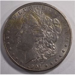 1901-S MORGAN DOLLAR, AU+  KEY DATE