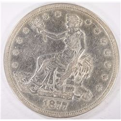 1877-S TRADE DOLLAR  VF  CLEANED