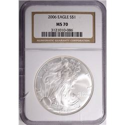 2006 AMERICAN SILVER EAGLE NGC MS-70