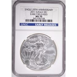 2011 ASE EARLY REL. 25TH ANN. NGC MS70