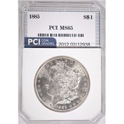 1885 MORGAN DOLLAR PCI MS65