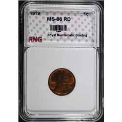 1919 LINCOLN CENT RNG SUPERB GEM RD