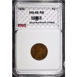 1920 LINCOLN CENT RNG GEM BU RB
