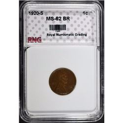 1920-S LINCOLN CENT RNG CH BU BR