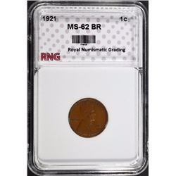 1921 LINCOLN CENT RNG CH BU BR