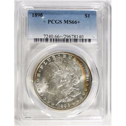 1896 MORGAN DOLLAR PCGS MS66+ BIG MONEY IN 67!