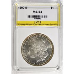 1900-S MORGAN DOLLAR LVCS CH/GEM BU
