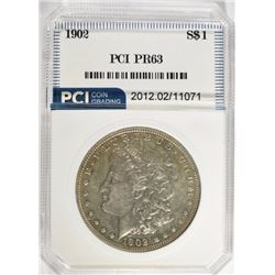 1902 MORGAN DOLLAR PCI CHOICE PROOF!