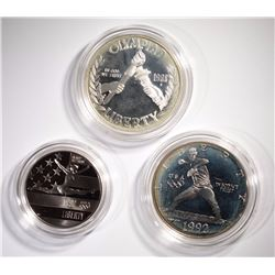 1988 OLYMPIC PROOF SILVER DOLLAR & 1992
