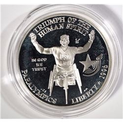 1996 OLYMPIC GAMES PROOF SILVER COMMEM  $1