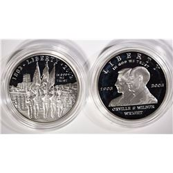 2002 WEST POINT PROOF SILVER $1& 2003