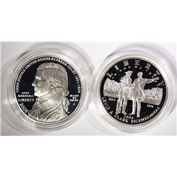 2004 LEWIS & CLARK PROOF SILVER $1 & 2005