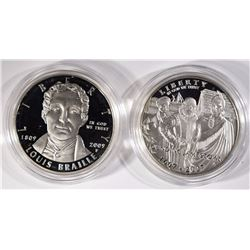 2007 JAMESTOWN PROOF SILVER $1 & 2009
