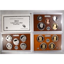 2012 U.S. PROOF SET in ORIG BOX