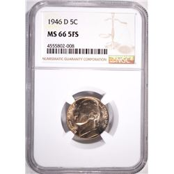 1946-D JEFFERSON NICKEL, NGC MS-66 FULL STEPS