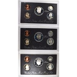 SILVER PROOF SETS: 1993, 1994, & 1995