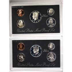 1995 & 1994 SILVER PROOF SETS