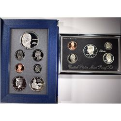 1995 SILVER PREMIER PROOF SET & 1993 PRESTIGE SET