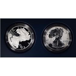2012-S AMERICAN SILVER EAGLE 2-COIN SET