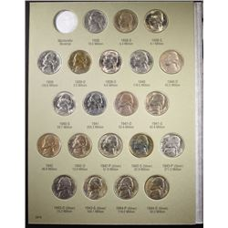 1938-1961 JEFFERSON NICKEL SET IN FOLDER