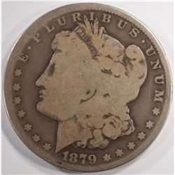 1879-CC MORGAN SILVER DOLLAR, AG/GOOD KEY COIN!