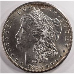 1880-CC MORGAN SILVER DOLLAR, CHOICE BU