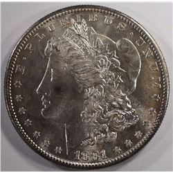 1881-S MORGAN SILVER DOLLAR, CHOICE BU+