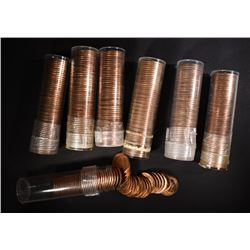 7-BU ROLLS OF 1955-D LINCOLN CENTS