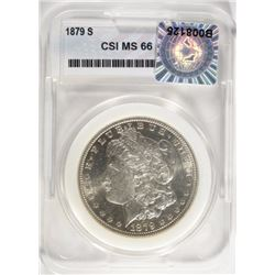 1879-S MORGAN DOLLAR, CSI GEM BU