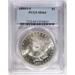 1880/9-S MORGAN DOLLAR, PCGS MS-64
