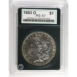 1883-O MORGAN DOLLAR, NGP SUPERB GEM, LOOKS AU/BU