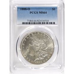 1888-O MORGAN DOLLAR, PCGS MS-64