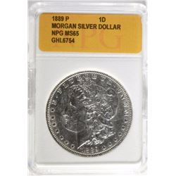 1889 MORGAN DOLLAR, NPG GEM BU