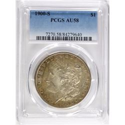 1900-S MORGAN DOLLAR, PCGS AU-58