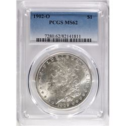 1902-O MORGAN DOLLAR, PCGS MS-62