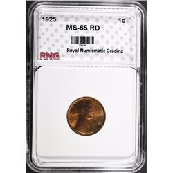 1925 LINCOLN CENT RNG GEM BU RD
