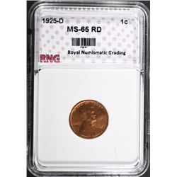 1925-D LINCOLN CENT RNG GEM BU RD