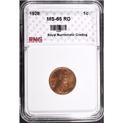 1928 LINCOLN CENT RNG GEM BU RD