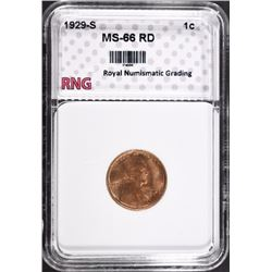 1929-S LINCOLN CENT RNG SUPERB GEM RD