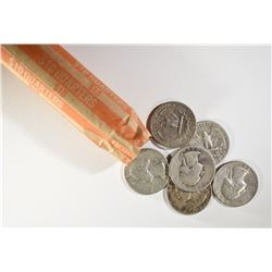 90% SILVER WASHINGTON QUARTER ROLL -  40 COINS -