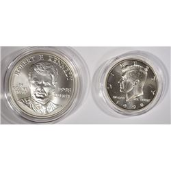 1998 ROBERT F KENNEDY 2 coin COMMEM SET -  UNC
