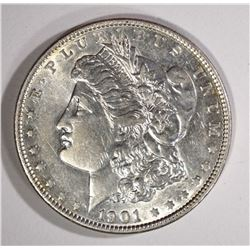 1901 MORGAN SILVER DOLLAR - AU/UNC