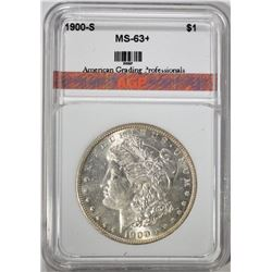 1900-S MORGAN SILVER DOLLAR AGP CHOICE BU+